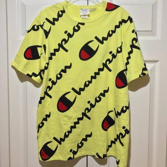 27fd2d612 Champion Shirts | Exploded Script Shirt | Poshmark